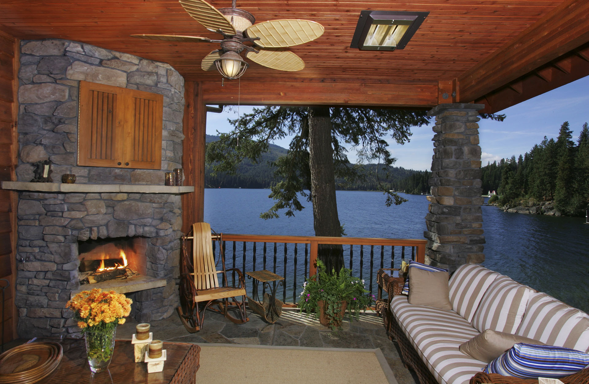 Coeur d'Alene Residence Porch