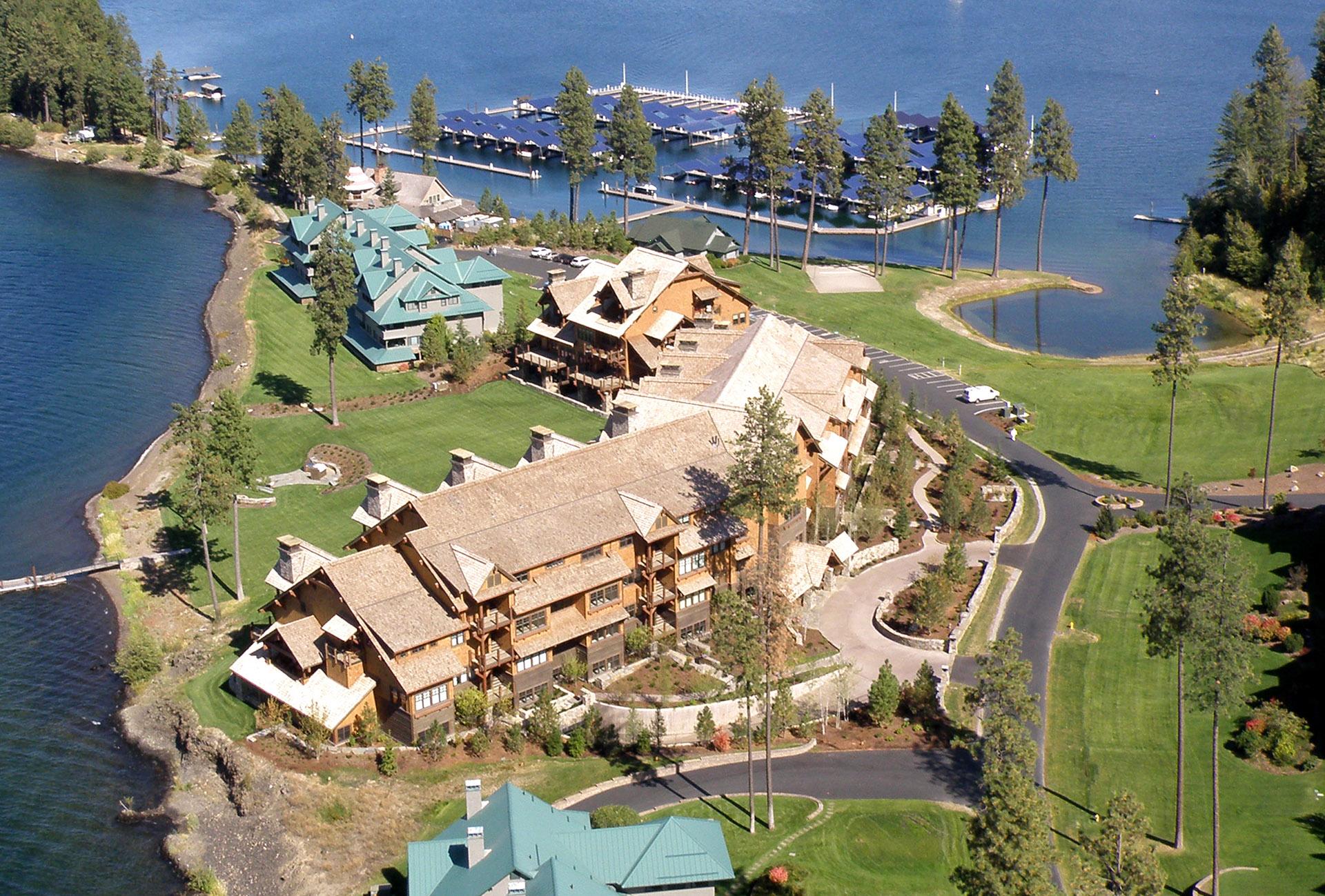 Lake Shore Lodge Aerial