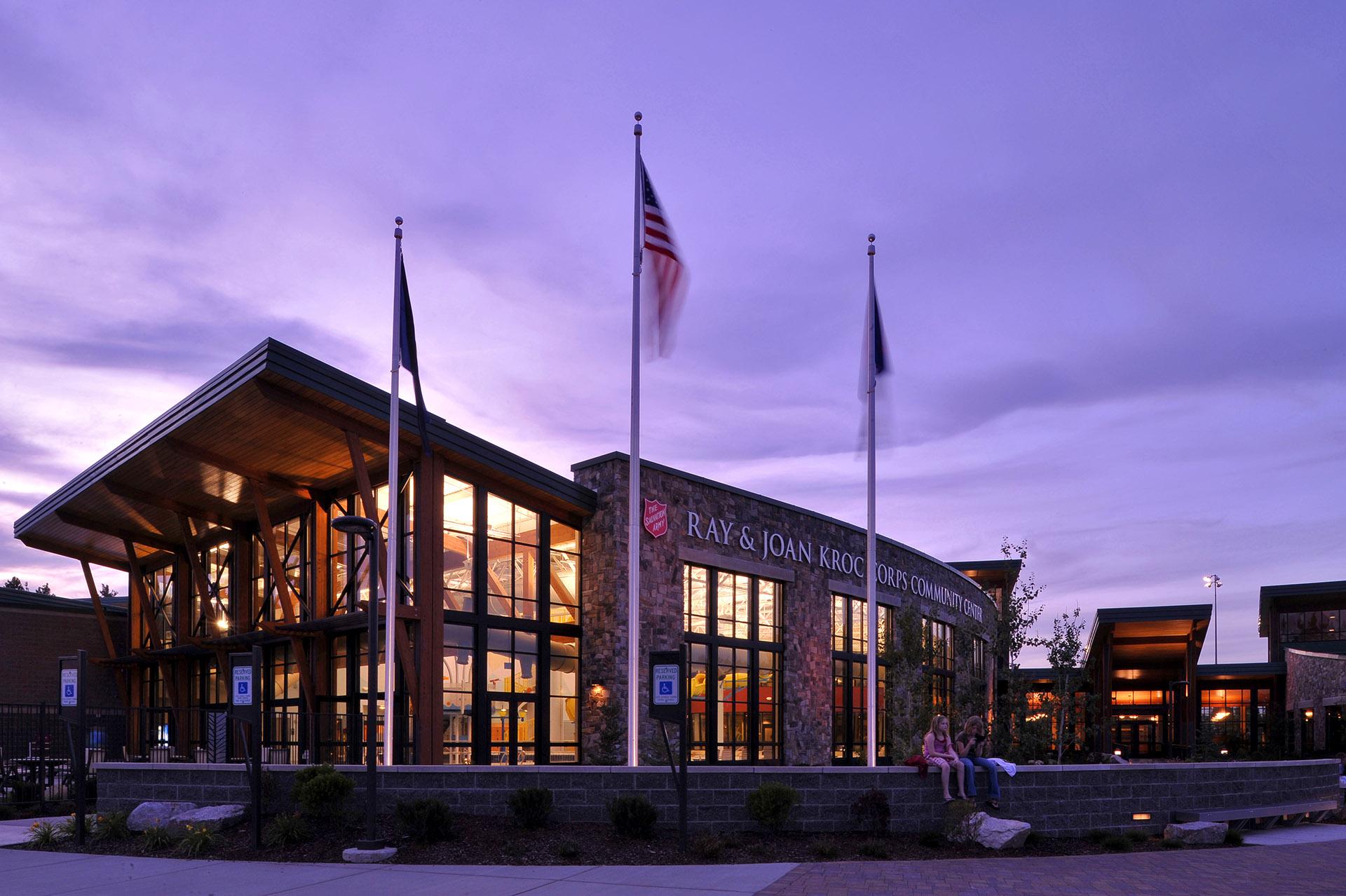 Kroc Community Center at Night