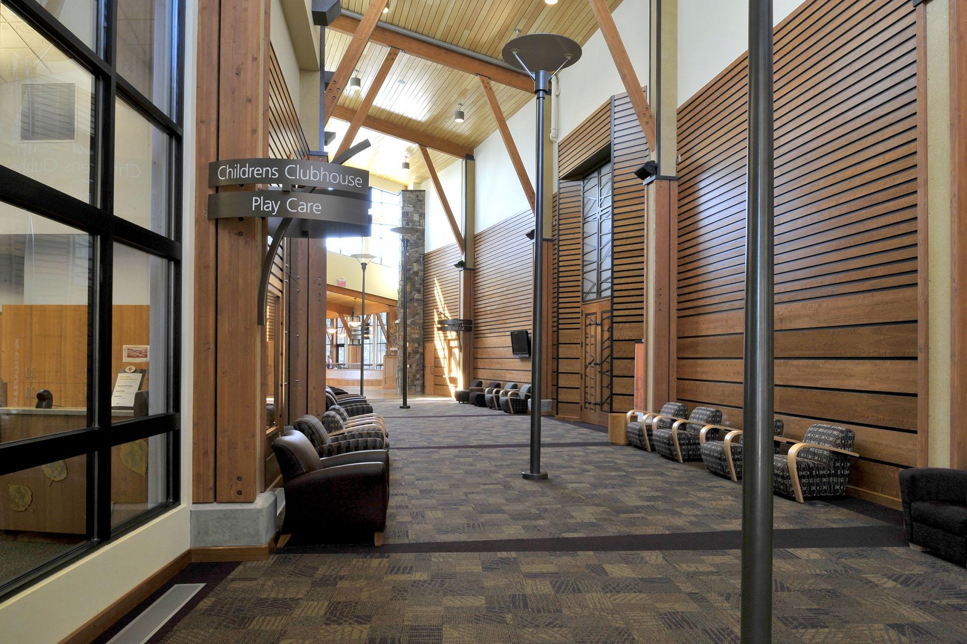 Kroc Community Center Hallway