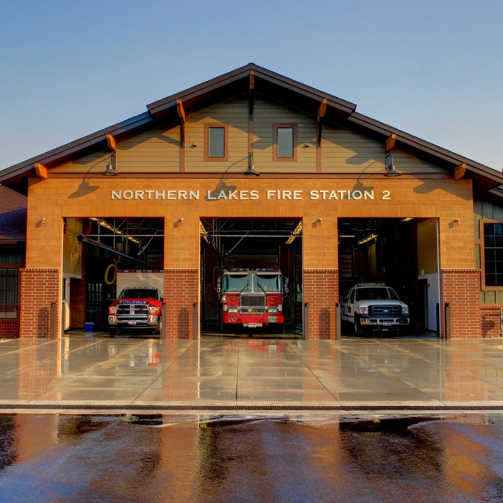 Northern Lakes Fire Station Exterior