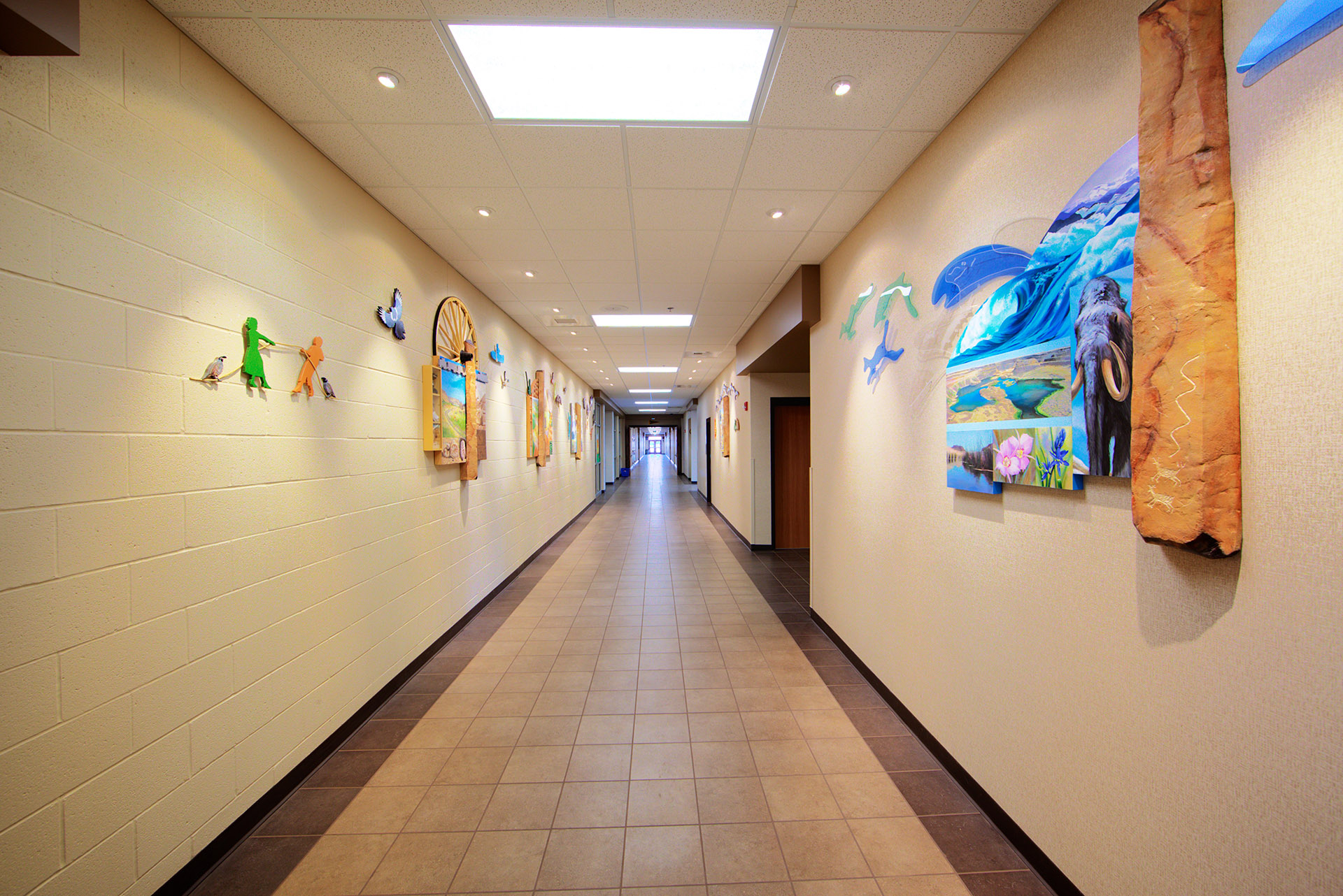 Wahitis Elementary Hallway