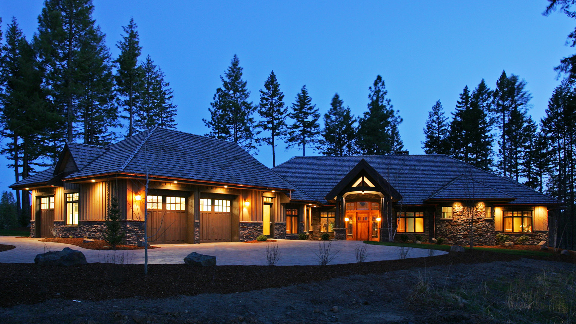 Coeur d'Alene Residence at Night