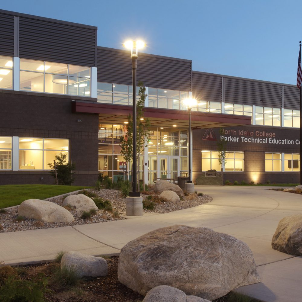 North Idaho College Parker Technical Education Center Entry