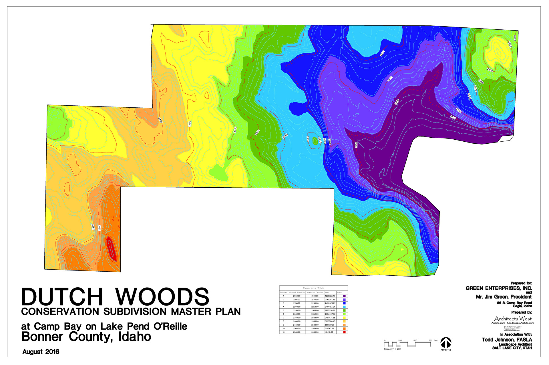 Dutch Woods Elevation Map