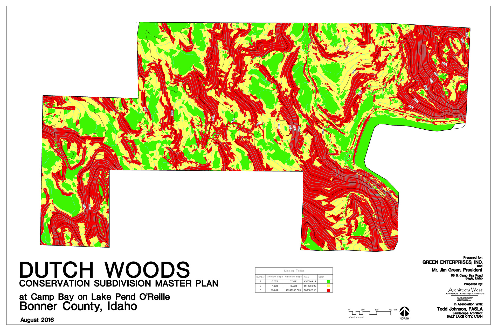 Dutch Woods Slope Map