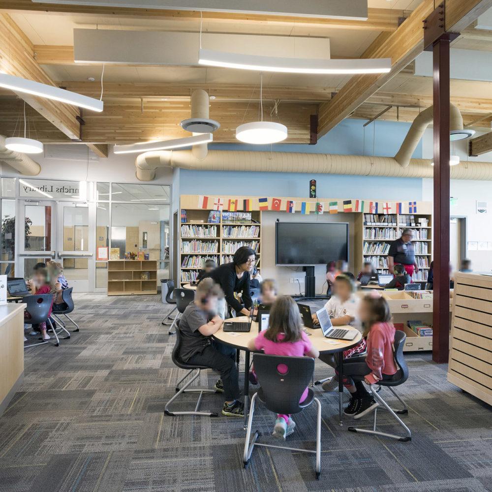 Gib Olinger Elementary School Library