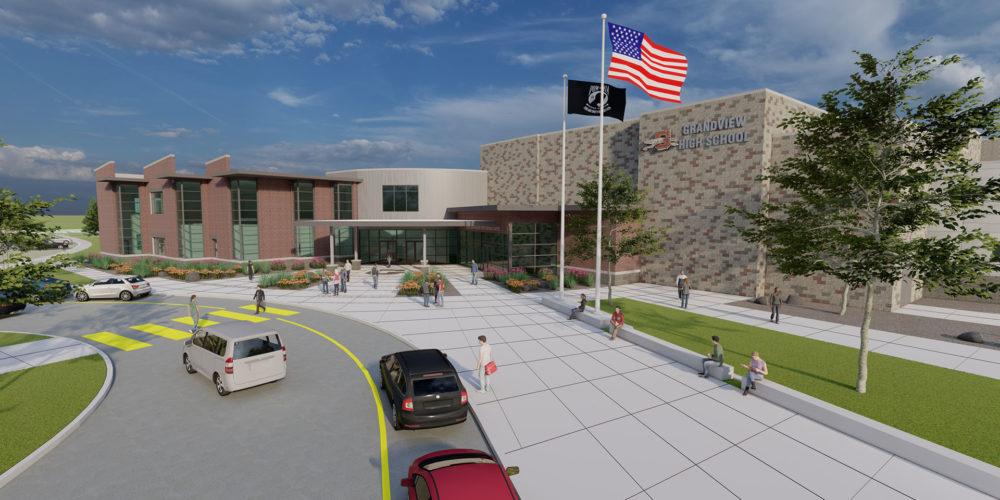 Grandview High School Exterior 3d