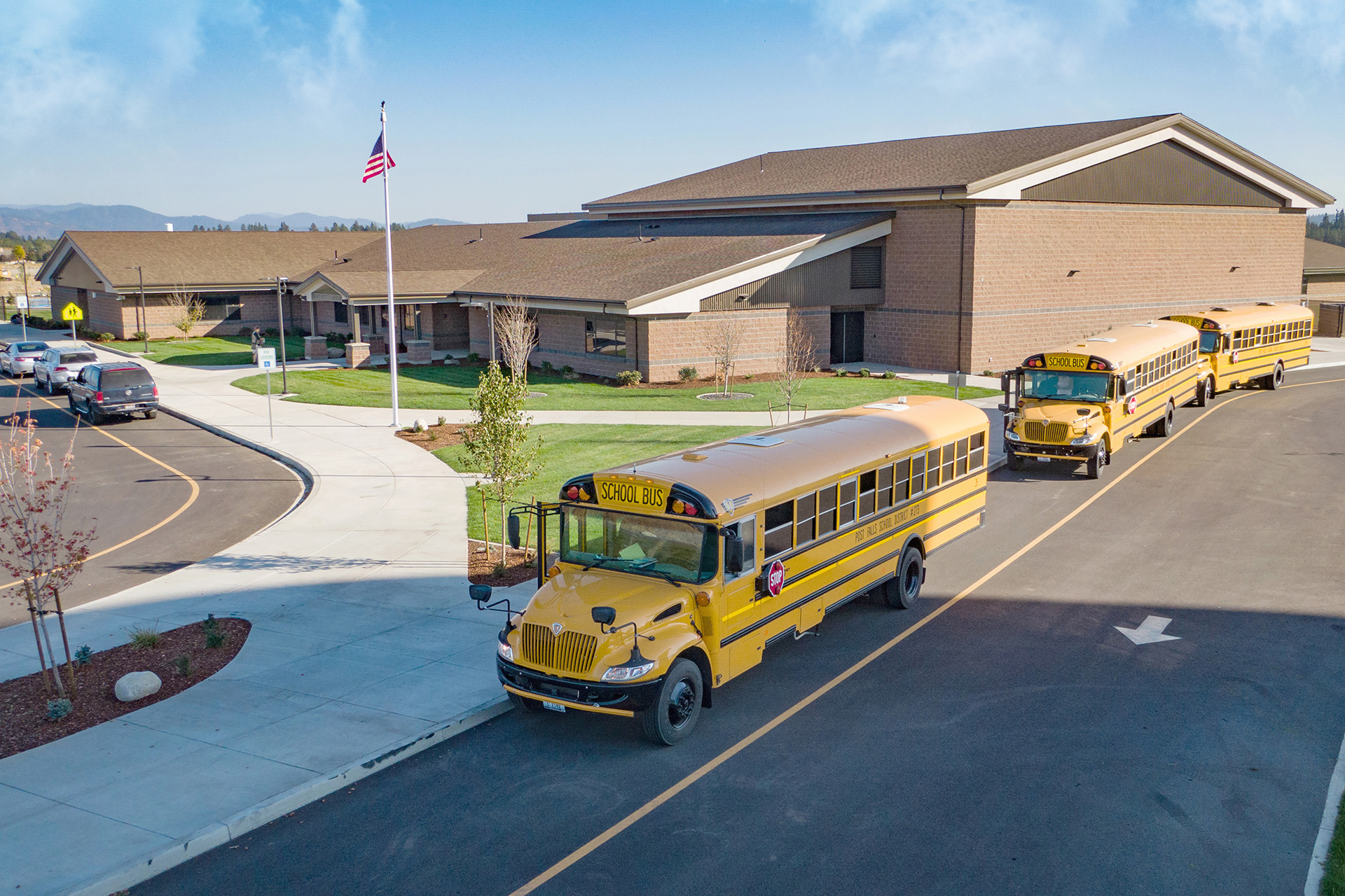 Treaty Rock Elementary Bus Loop and Entry