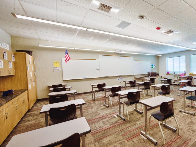 Lind-Ritzville High School Classroom